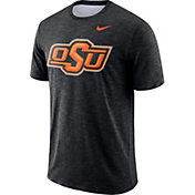 Nike Men's Oklahoma State Cowboys Black Dri-FIT Football Sideline Slub T-Shirt