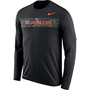 Nike Men's Oklahoma State Cowboys Dri-FIT Legend Long Sleeve Sideline Black T-Shirt