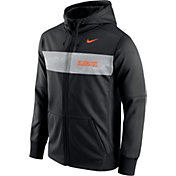 Nike Men's Oklahoma State Cowboys Black Therma-FIT Full-Zip Sideline Hoodie