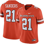 Nike Men's Barry Sanders Oklahoma State Cowboys #21 Orange Replica College Alumni Jersey