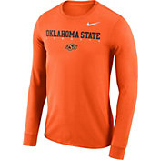 Nike Men's Oklahoma State Cowboys Orange Football Dri-FIT Facility Long Sleeve T-Shirt