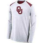 Nike Men's Oklahoma Sooners Elite Shooter White Long Sleeve Shirt