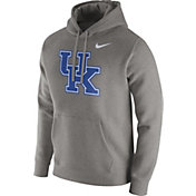 Nike Men's Kentucky Wildcats Grey Club Fleece Hoodie
