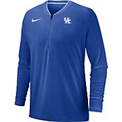 Nike Men's Kentucky Wildcats Blue Coach Half-Zip Football Sideline Jacket