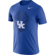 Nike Men's Kentucky Wildcats Blue Dri-FIT Football Icon T-Shirt