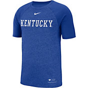 Nike Men's Kentucky Wildcats Blue Raglan Sideline T-Shirt