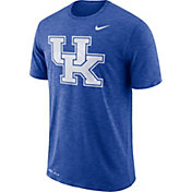 Nike Men's Kentucky Wildcats Blue Dri-FIT Football Sideline Slub T-Shirt