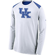 Nike Men's Kentucky Wildcats Elite Shooter White Long Sleeve Shirt