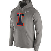 Nike Men's Illinois Fighting Illini Grey Club Hoodie