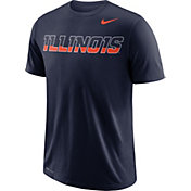 Nike Men's Illinois Fighting Illini Blue Wordmark T-Shirt
