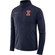 Nike Men's Illinois Fighting Illini Blue Core Half-Zip Shirt
