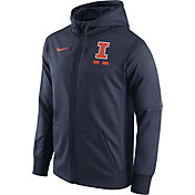 Nike Men's Illinois Fighting Illini Blue Therma-FIT Full-Zip Football Hoodie