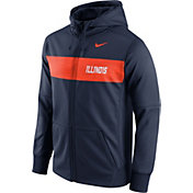 Nike Men's Illinois Fighting Illini Blue Therma-FIT Full-Zip Sideline Hoodie