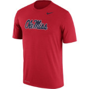 Nike Men's Ole Miss Rebels Red Logo Dry Legend T-Shirt