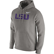 Nike Men's LSU Tigers Grey Club Fleece Hoodie