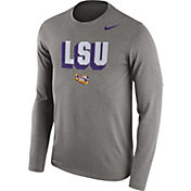 Nike Men's LSU Tigers Grey Dri-FIT Franchise Long Sleeve T-Shirt