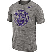 Nike Men's LSU Tigers Charcoal Football Dri-FIT Travel T-Shirt
