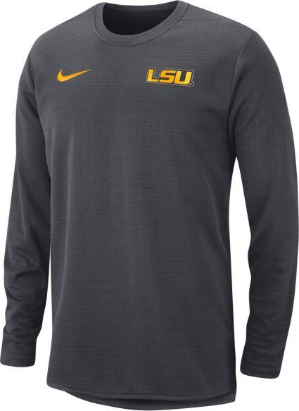 73e76b30c714c5 Nike Men s LSU Tigers Anthracite Modern Football Sideline Crew Long Sleeve  Shirt. noImageFound
