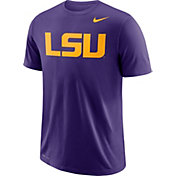 Nike Men's LSU Tigers Purple Wordmark T-Shirt