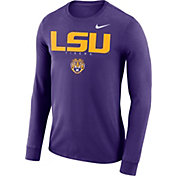 Nike Men's LSU Tigers Purple Football Dri-FIT Facility Long Sleeve T-Shirt