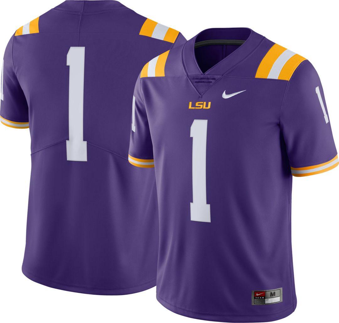 online store 6dfcd 90cd7 Nike Men's LSU Tigers #1 Purple Limited Football Jersey