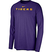Nike Men's LSU Tigers Purple Football Dri-FIT Player Long Sleeve T-Shirt