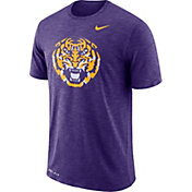 Nike Men's LSU Tigers Purple Dri-FIT Football Sideline Slub T-Shirt