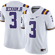 Nike Men's Odell Beckham Jr. LSU Tigers #3 White Replica College Alumni Jersey