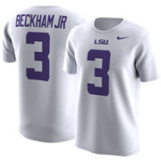 Nike Men's LSU Tigers Odell Beckham Jr.  #3 College Alumni White T-Shirt