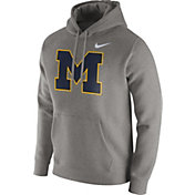 Nike Men's Michigan Wolverines Grey Club Fleece Hoodie
