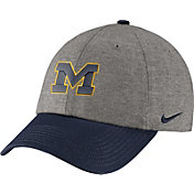 Nike Men's Michigan Wolverines Grey/Blue Heritage86 Heather Adjustable Hat