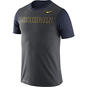 Nike Men's Michigan Wolverines Anthracite/Blue Championship Drive Dri-Blend T-Shirt