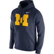 Nike Men's Michigan Wolverines Blue Club Fleece Hoodie