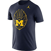 Jordan Men's Michigan Wolverines Blue Dri-FIT Football Icon T-Shirt