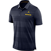 Jordan Men's Michigan Wolverines Blue Early Season Football Polo