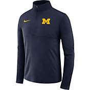 Nike Men's Michigan Wolverines Blue Core Half-Zip Shirt