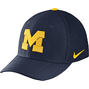 Nike Men's Michigan Wolverines Blue Aerobill Swoosh Flex Classic99 Hat