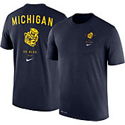 Nike Men's Michigan Wolverines Blue Dri-Blend Vault Logo T-Shirt