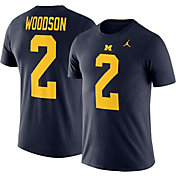 Jordan Men's Michigan Wolverines Charles Woodson #2 Blue Future Star Replica Football Jersey T-Shirt