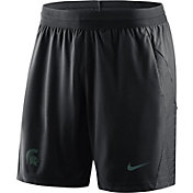 Nike Men's Michigan State Spartans Fly Knit Football Black Shorts