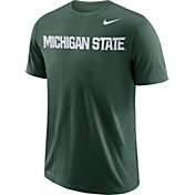 Nike Men's Michigan State Spartans Green Wordmark T-Shirt