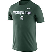 Nike Men's Michigan State Spartans Green Football Dri-FIT Facility T-Shirt