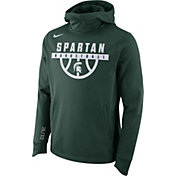 Nike Men's Michigan State Spartans Green Basketball Performance Elite Therma-FIT Hoodie