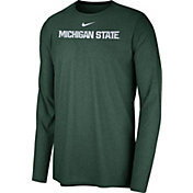 Nike Men's Michigan State Spartans Green Football Dri-FIT Player Long Sleeve T-Shirt