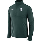 Nike Men's Michigan State Spartans Green Core Half-Zip Shirt