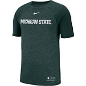 Nike Men's Michigan State Spartans Green Raglan Sideline T-Shirt