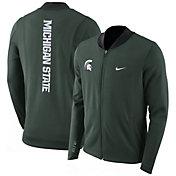 Nike Men's Michigan State Spartans Green Showtime Basketball Full-Zip Jacket