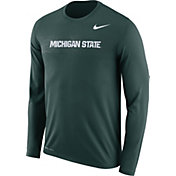 Nike Men's Michigan State Spartans Green Dri-FIT Legend Long Sleeve Sideline T-Shirt