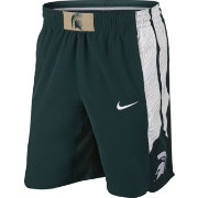 Nike Men's Michigan State Spartans Green Authentic Basketball Shorts