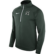 Nike Men's Michigan State Spartans Green Therma Half-Zip Shirt